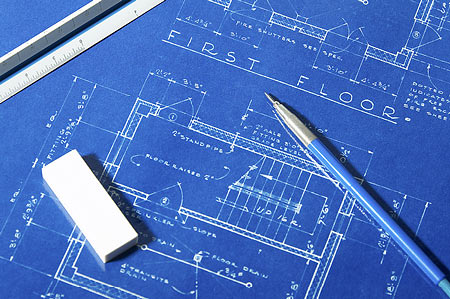 A blueprint is a reproduction of a technical drawing, documenting an architecture or an engineering design.